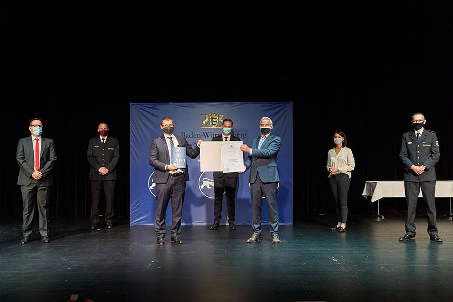 Auszeichnung Ehrenamtsfreundlicher Arbeitgeber im Bevölkerungsschutz